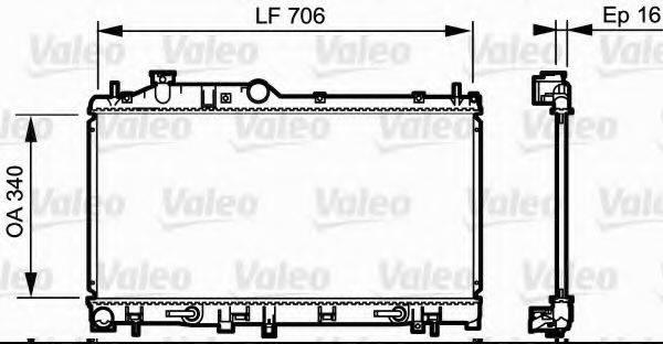 Радиатор, охлаждение двигателя VALEO 735212