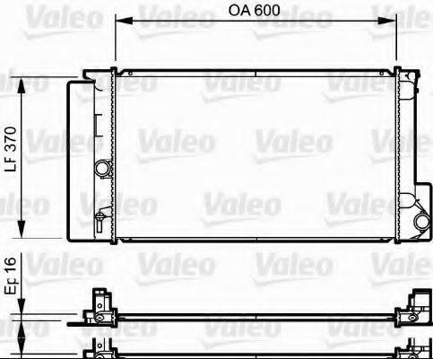 Радиатор, охлаждение двигателя VALEO 735250