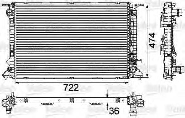 Радиатор, охлаждение двигателя VALEO 735473