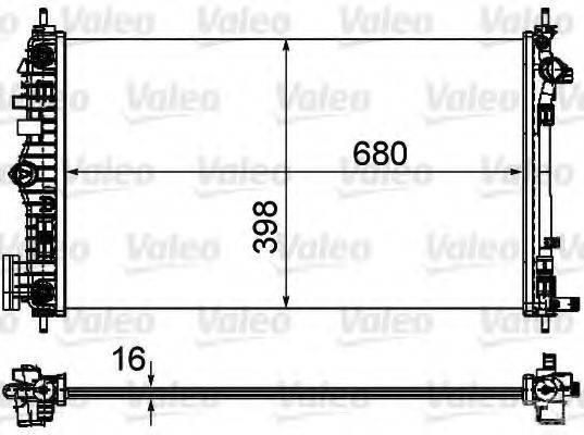 Радиатор, охлаждение двигателя VALEO 735484
