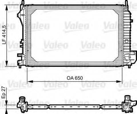 Радиатор, охлаждение двигателя VALEO 735083