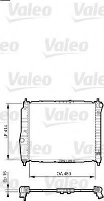 Радиатор, охлаждение двигателя VALEO 735157
