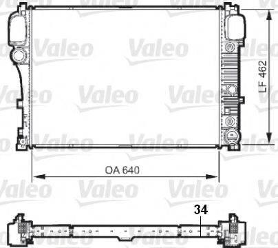 Радиатор, охлаждение двигателя VALEO 735299