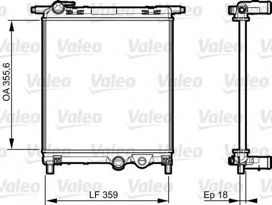 Радиатор, охлаждение двигателя VALEO 735469