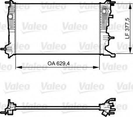 Радиатор, охлаждение двигателя VALEO 735607