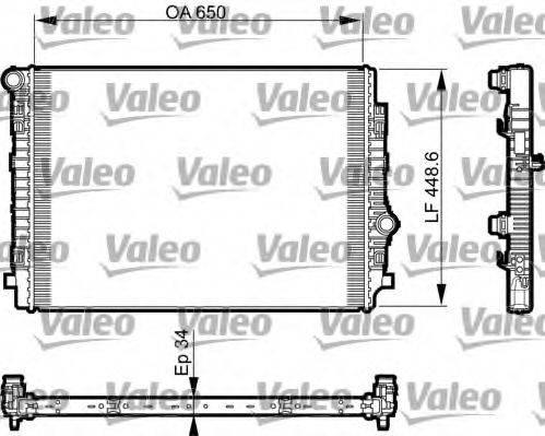 Радиатор, охлаждение двигателя VALEO 735549