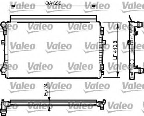 Радиатор, охлаждение двигателя VALEO 735558