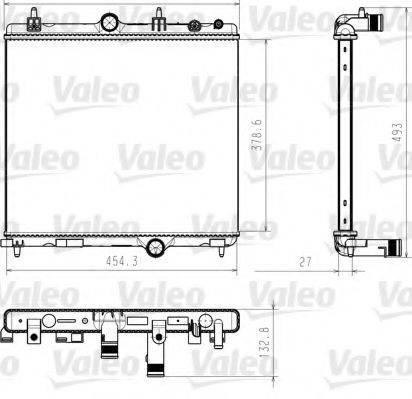 Радиатор, охлаждение двигателя VALEO 735618