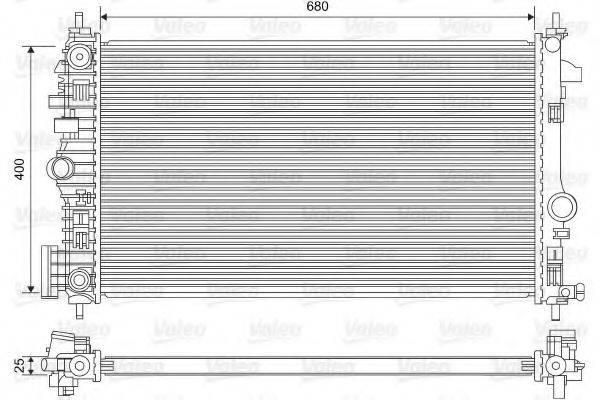 Радиатор, охлаждение двигателя VALEO 735486