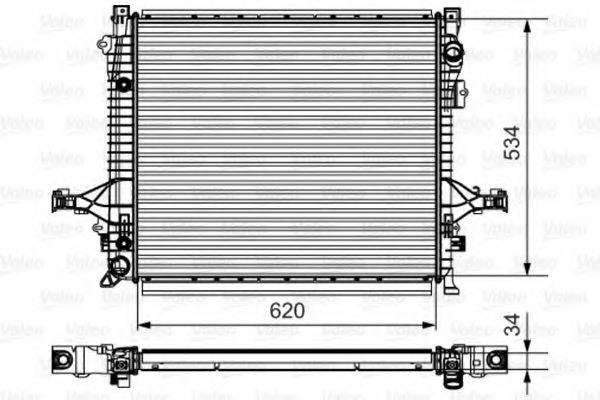 Радиатор, охлаждение двигателя VALEO 735541