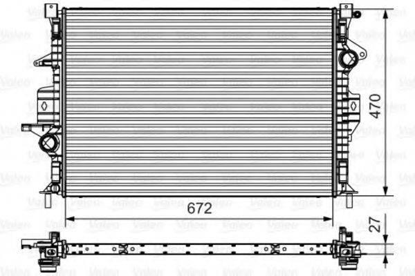 Радиатор, охлаждение двигателя VALEO 735552