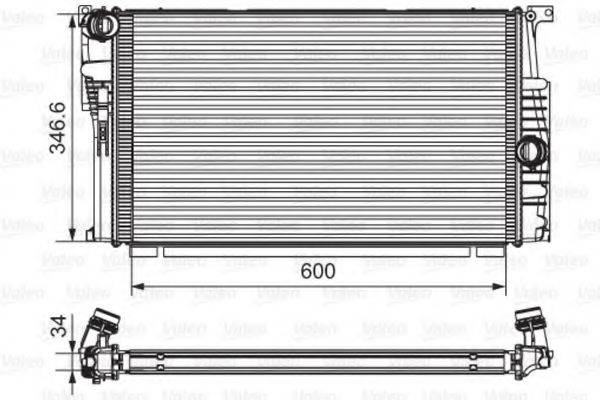 Радиатор, охлаждение двигателя VALEO 735615