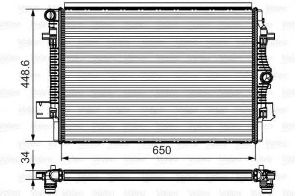 Радиатор, охлаждение двигателя VALEO 735622
