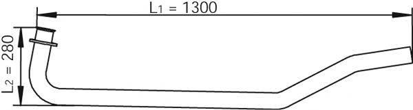 Труба выхлопного газа DINEX 47101