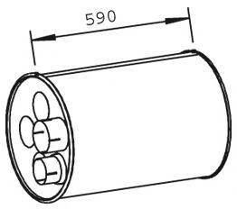 Средний глушитель выхлопных газов DINEX 47309