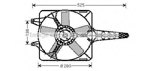 Вентилятор, охлаждение двигателя AVA QUALITY COOLING FT7501