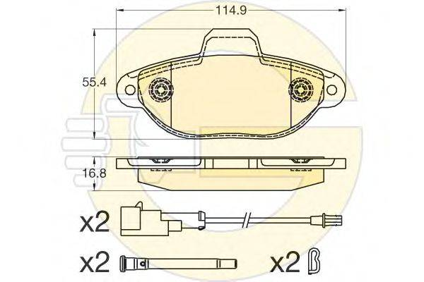 Комплект тормозных колодок, дисковый тормоз GIRLING 6120411