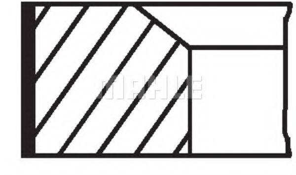 Комплект поршневых колец MAHLE ORIGINAL 001 RS 00111 0N0