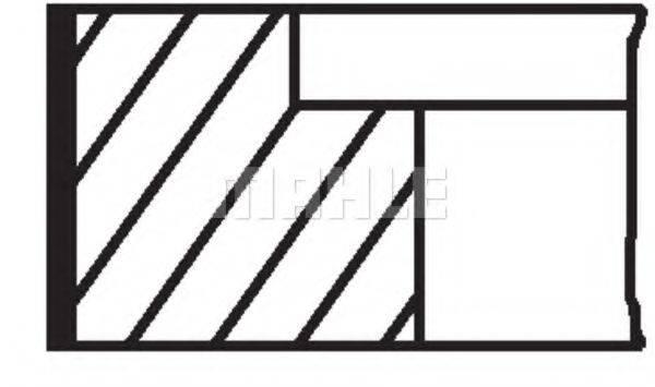 Комплект поршневых колец MAHLE ORIGINAL 009 32 N0
