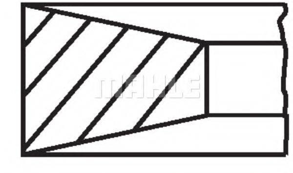 Комплект поршневых колец MAHLE ORIGINAL 011 RS 10101 0N0