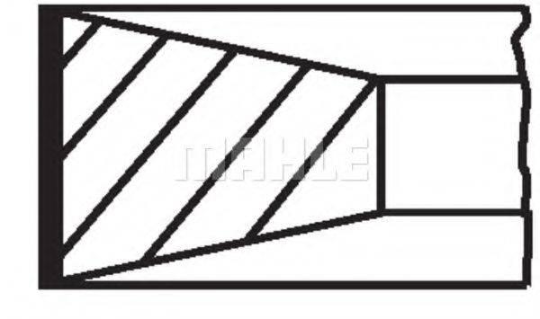 Комплект поршневых колец MAHLE ORIGINAL 004 50 N0