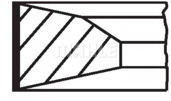 Комплект поршневых колец MAHLE ORIGINAL 001 35 N0