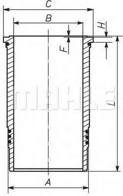 Гильза цилиндра MAHLE ORIGINAL 001 WN 21