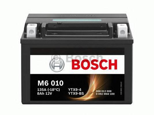 Стартерная аккумуляторная батарея; Стартерная аккумуляторная батарея BOSCH 0 092 M60 100
