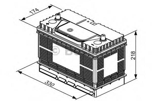 Стартерная аккумуляторная батарея; Стартерная аккумуляторная батарея BOSCH 0 092 T30 500