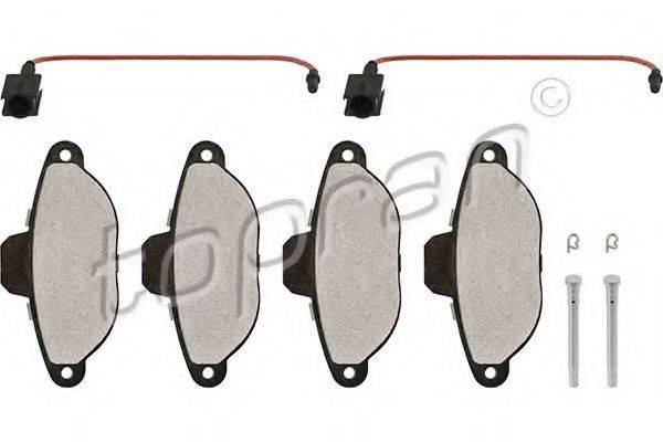 Комплект тормозных колодок, дисковый тормоз TOPRAN 304 229