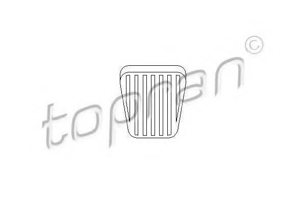 Накладка на педаль, педаль сцепления TOPRAN 200 912