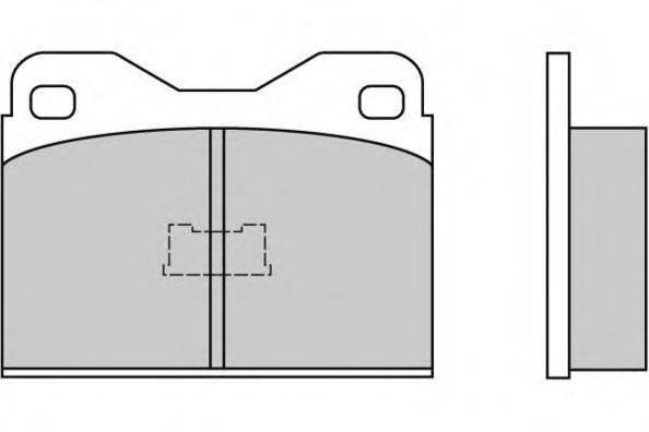 Комплект тормозных колодок, дисковый тормоз E.T.F. 12-0136