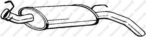 Глушитель выхлопных газов конечный BOSAL 200-505