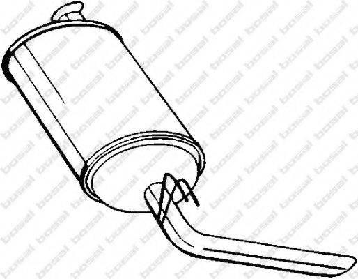 Глушитель выхлопных газов конечный BOSAL 200-989