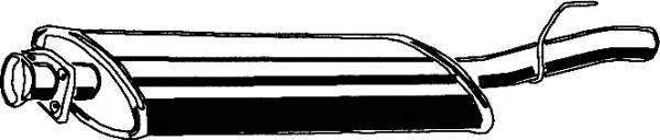 Средний глушитель выхлопных газов ASMET 01.046