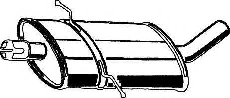 Средний глушитель выхлопных газов ASMET 01.059