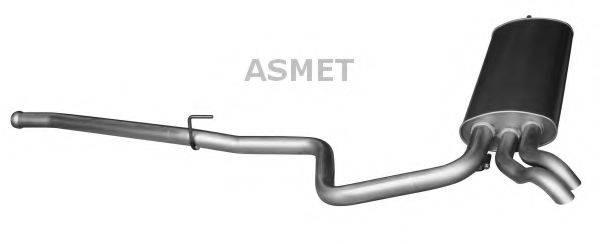 Глушитель выхлопных газов конечный ASMET 01.076