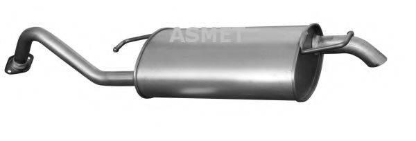 Глушитель выхлопных газов конечный ASMET 20.037