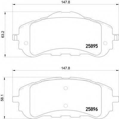 Комплект тормозных колодок, дисковый тормоз HELLA PAGID 8DB 355 021-321
