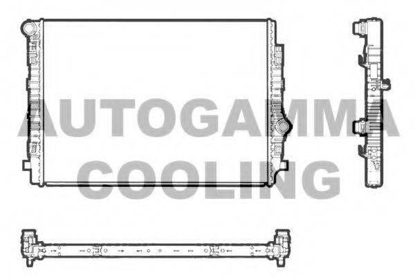 Радиатор, охлаждение двигателя AUTOGAMMA 107465