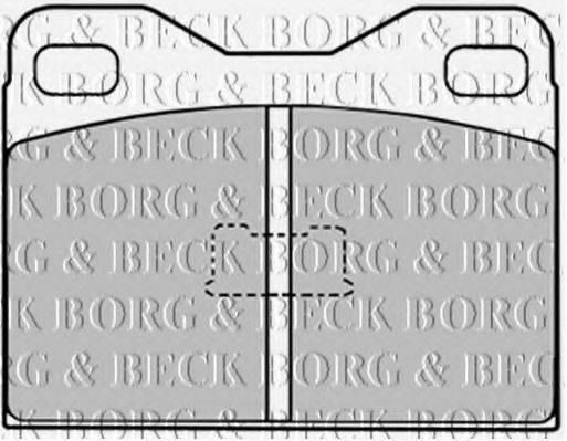 Комплект тормозных колодок, дисковый тормоз BORG & BECK BBP1006