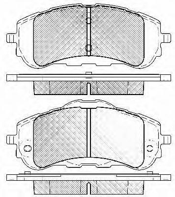 Комплект тормозных колодок, дисковый тормоз BSF 20046