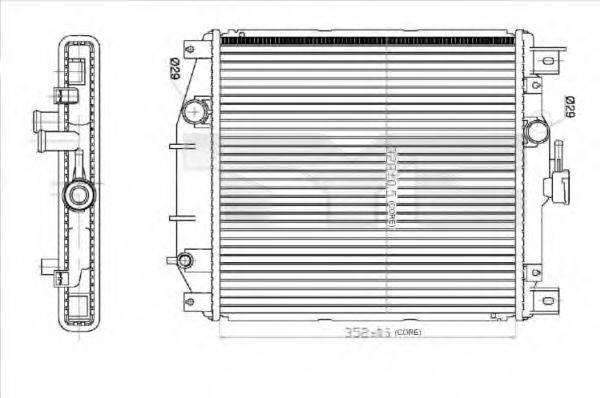 Радиатор, охлаждение двигателя TYC 735-0012