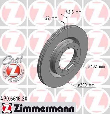Тормозной диск ZIMMERMANN 470.6618.20