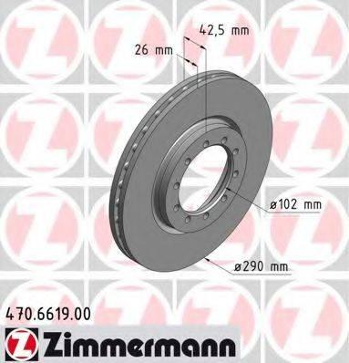 Тормозной диск ZIMMERMANN 470.6619.00