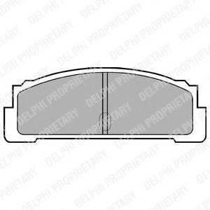 Комплект тормозных колодок, дисковый тормоз DELPHI LP29