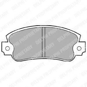 Комплект тормозных колодок, дисковый тормоз DELPHI LP353