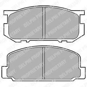 Комплект тормозных колодок, дисковый тормоз DELPHI LP356