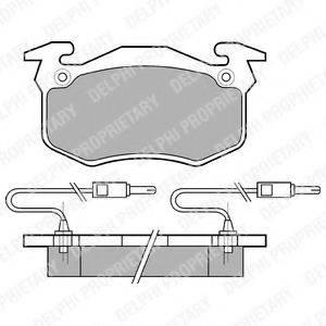 Комплект тормозных колодок, дисковый тормоз DELPHI LP382