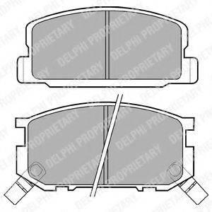 Комплект тормозных колодок, дисковый тормоз DELPHI LP402